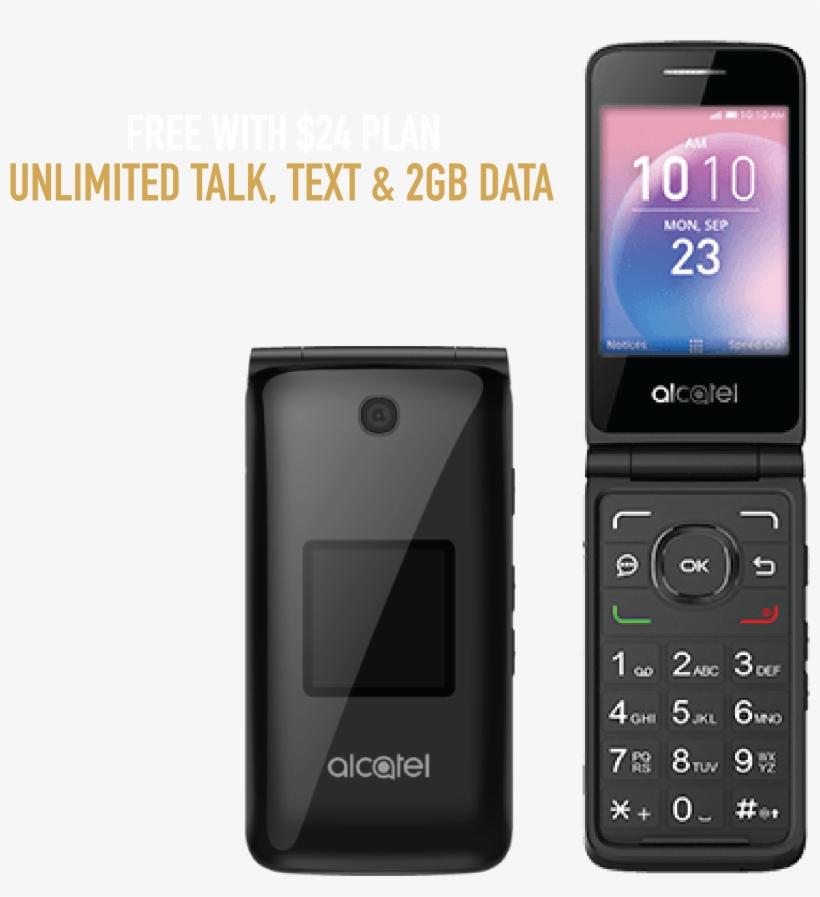 Boost Mobile Alcatel Goflip, Grey, transparent png #6455668