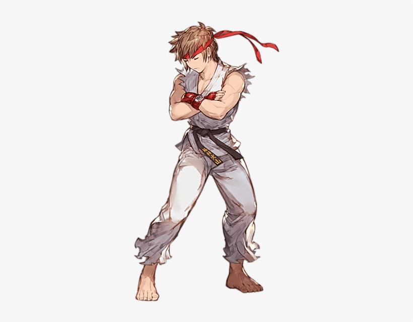 ストリートファイター衣装 男 Street Fighter Hadouken, Ryu Street - Granblue Fantasy Gran Skin, transparent png #6459139