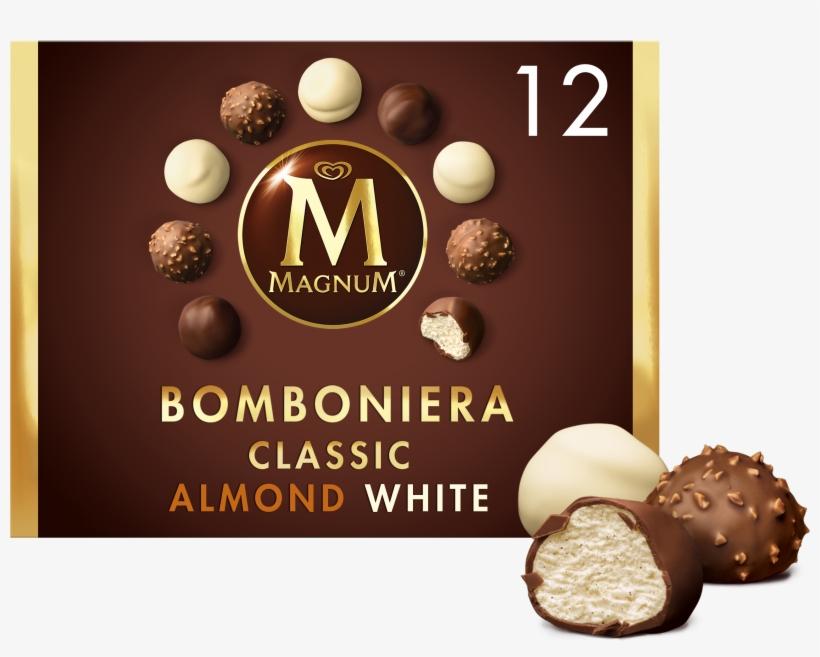 Pack Ice Picture - Magnum Bomboniera Classic, Almond, White Ice Cream, transparent png #6463422