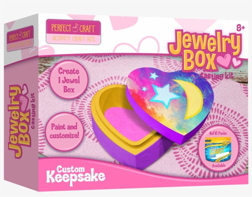 Perfect Craft Jewelry Box Casting Kit - The Packaging Trust Kraft Jewelry Boxes 20 Boxes, transparent png #6484695