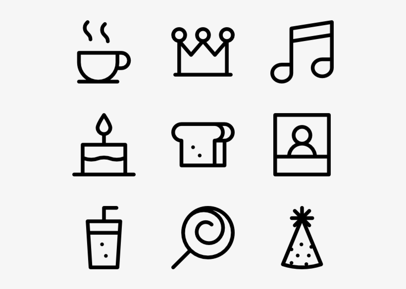 Birthday And Party Resume Icon Png Free Transparent Png