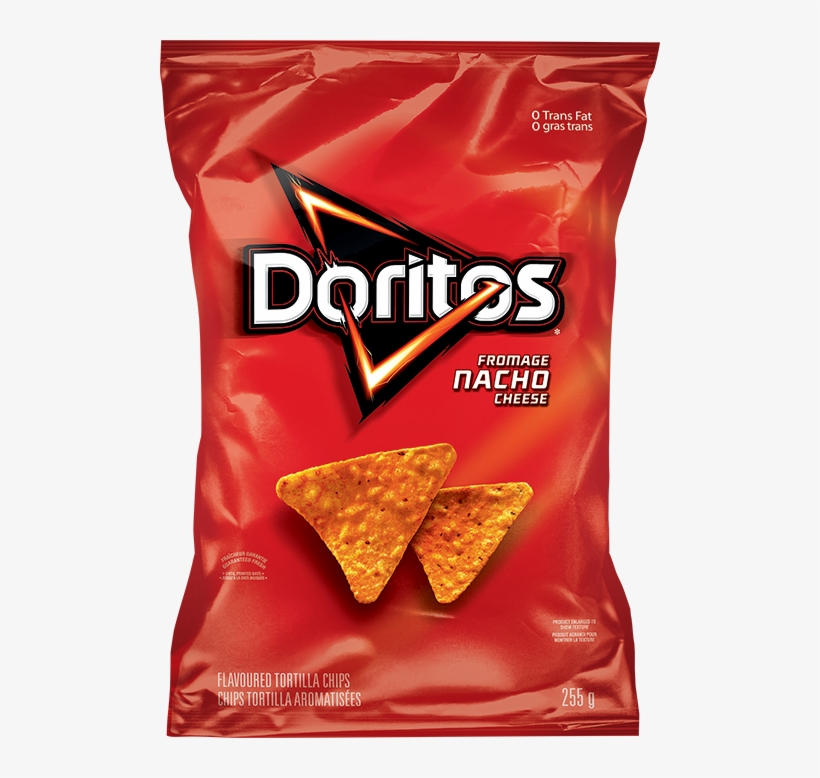 Doritos - Doritos Nacho Cheese Tortilla Chips, transparent png #650164