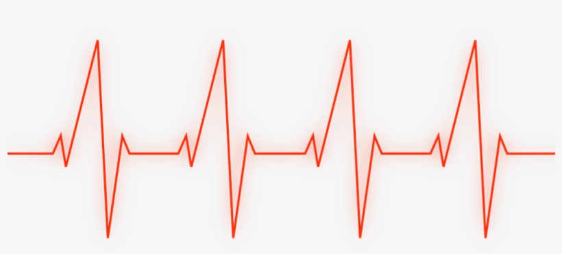 Ftestickers Heartbeat Red Line Picture Black And White - Heartbeat Line Red Png, transparent png #650188