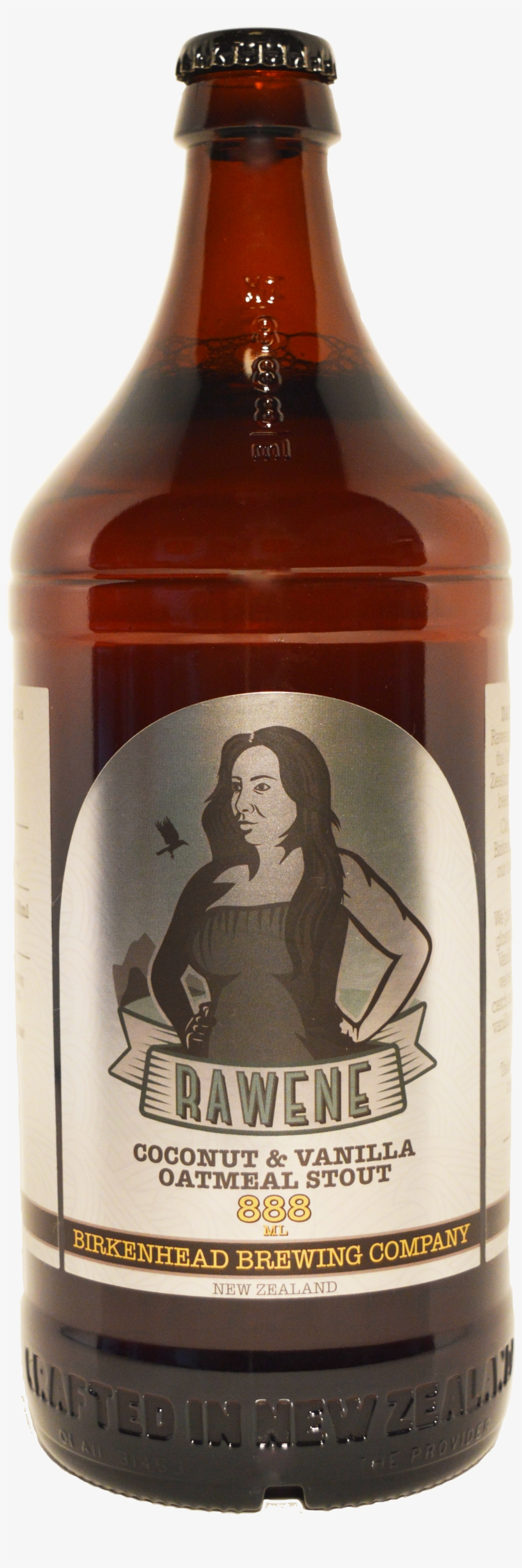 Rawene Coco & Van Oatmeal Stout - Birkenhead Brewing Company Rawene Stout (888ml), transparent png #650396