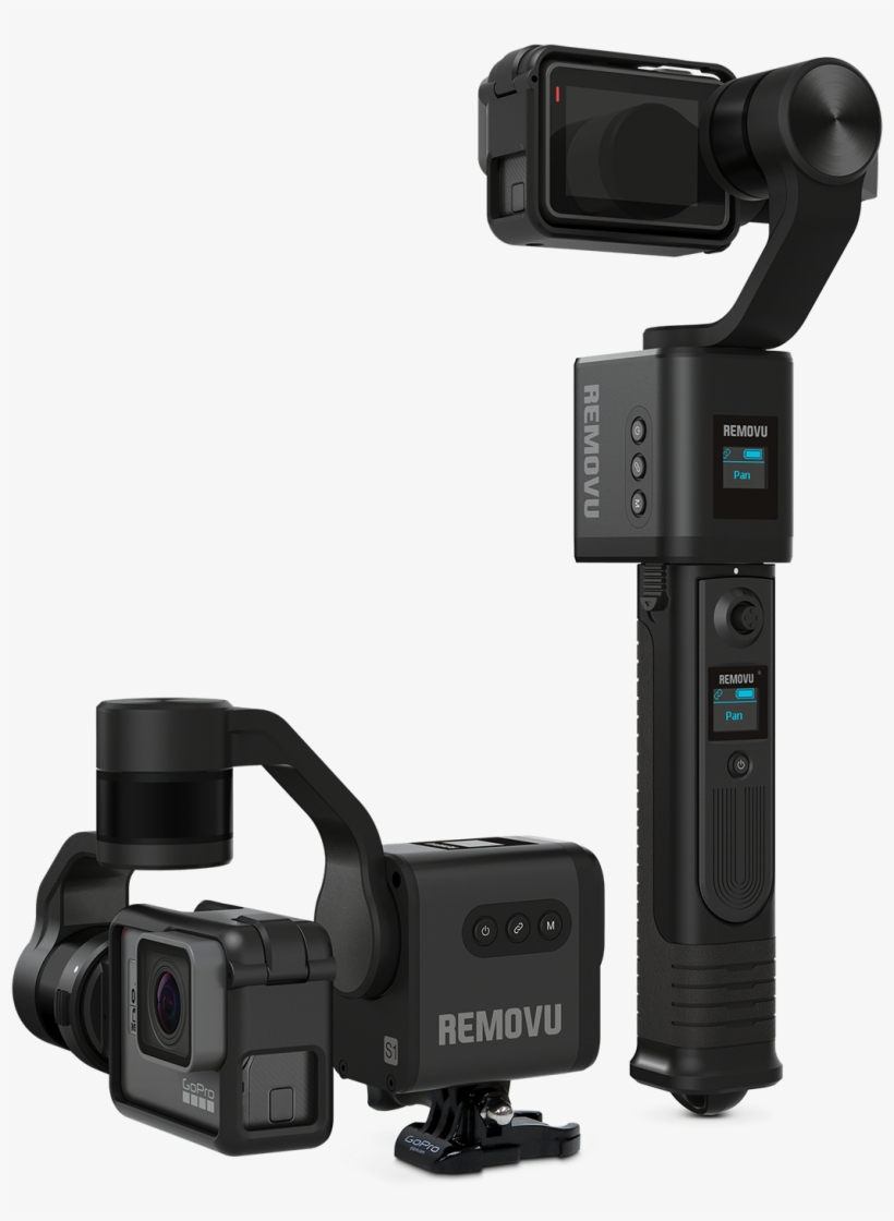 Removu S1 Is A 3-axis Gimbal For Gopro Camera - Gopro Hero 6 Gimbal, transparent png #651136
