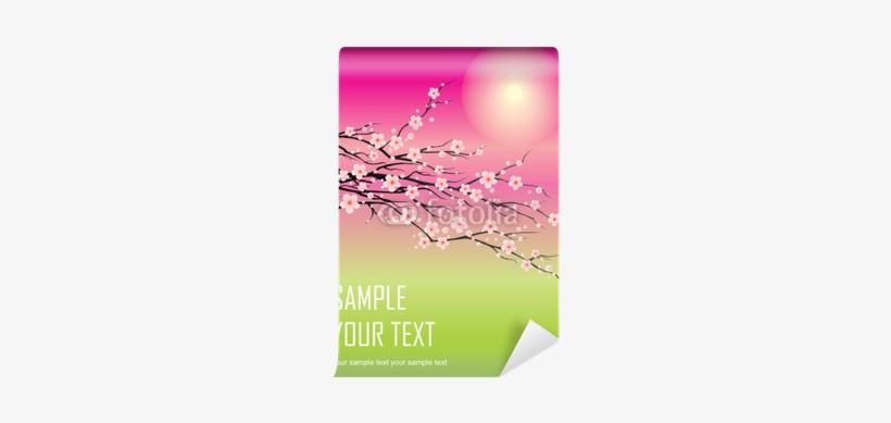 Branch Of Cherry Blossom Sakura Tree Wall Mural • Pixers® - Cherry Blossom, transparent png #653517