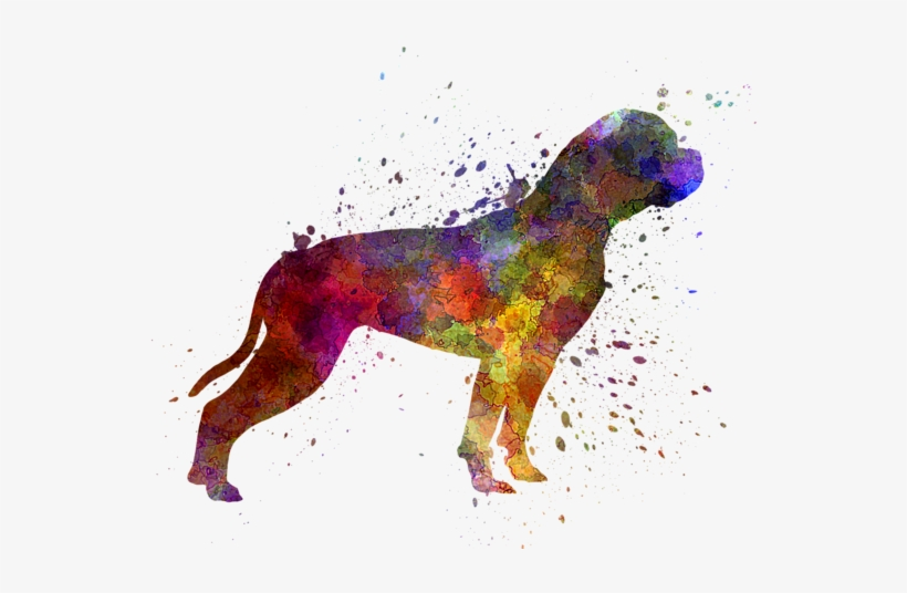Click And Drag To Re-position The Image, If Desired - Designart 'american Bulldog' Painting Print On Metal, transparent png #654602
