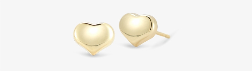 Roberto Coin Tiny Treasures 18k Yellow Gold Heart - Gold Small Earring Design, transparent png #655265