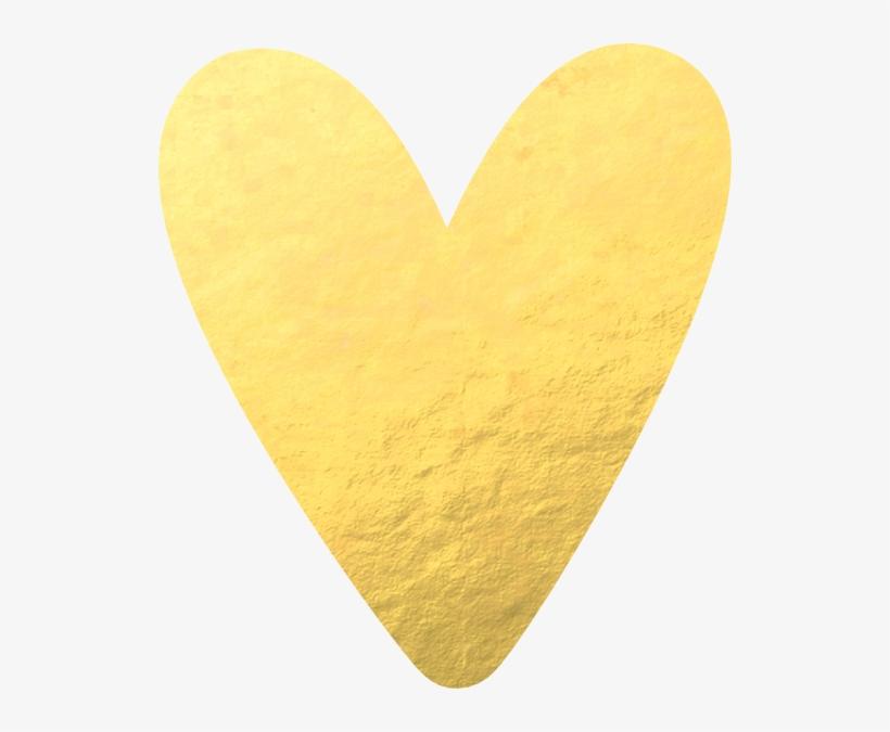 Heart, Png Gold Foil - Gold Foil Heart Png, transparent png #655291