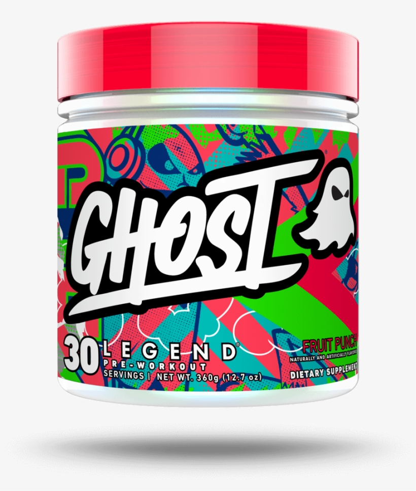 Ghost Legend Fruit Punch Pre Workout 30 Servings - Ghost Pre Workout Fruit Punch, transparent png #656728