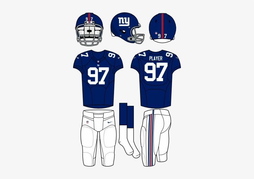 New York Giants Uniform - New York Giants Home Uniform, transparent png #657243