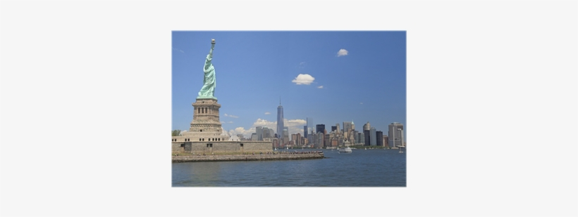 Statue Of Liberty And New York Skyline Poster • Pixers® - New York City, transparent png #659770