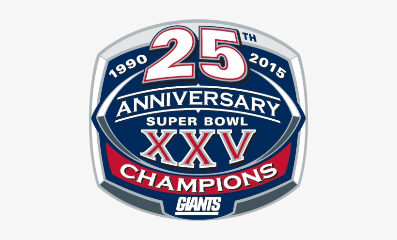 New York Giants Png Transparent Image - Super Bowl 25 Logo, transparent png #659943