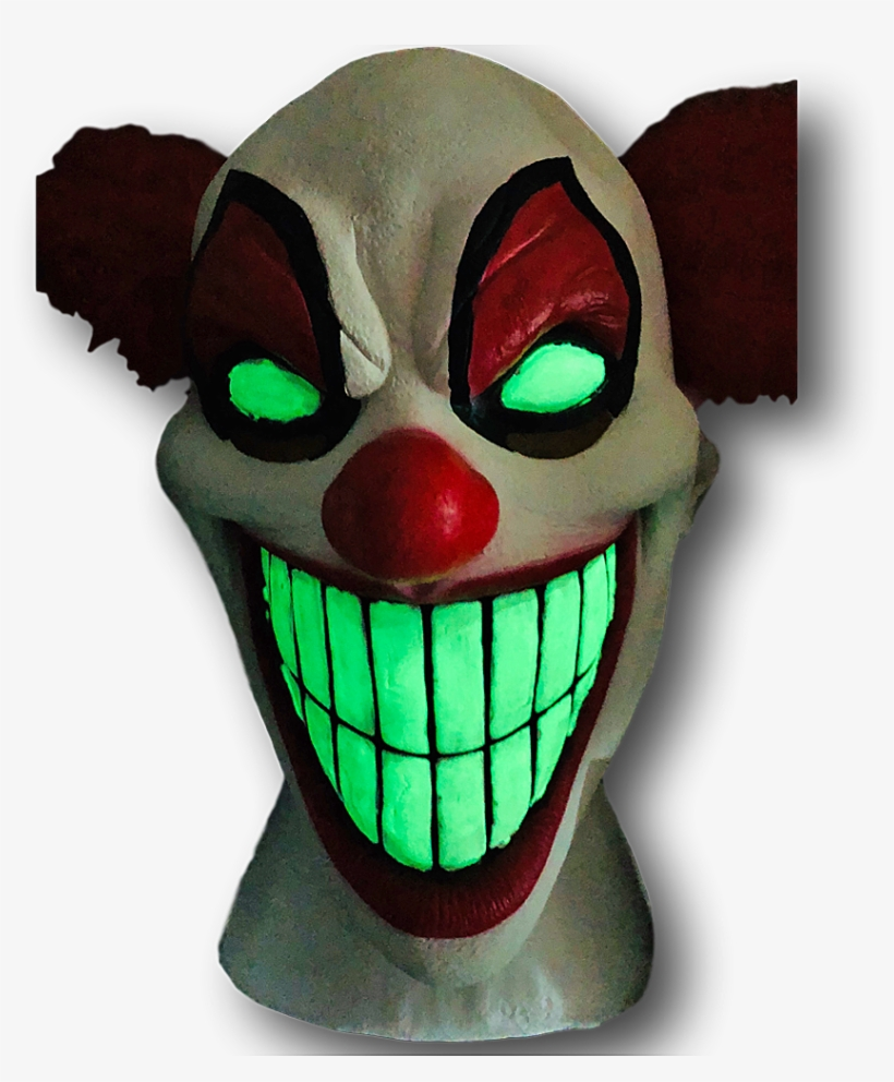 Chester The Evil Clown Mask, Glow In The Dark, transparent png #6559379