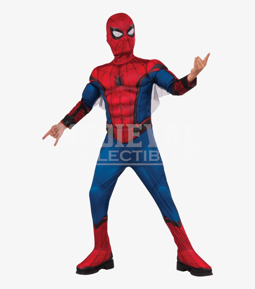 Kids Deluxe Spider Man Homecoming Costume - Spiderman Homecoming Costume For Kids, transparent png #660655