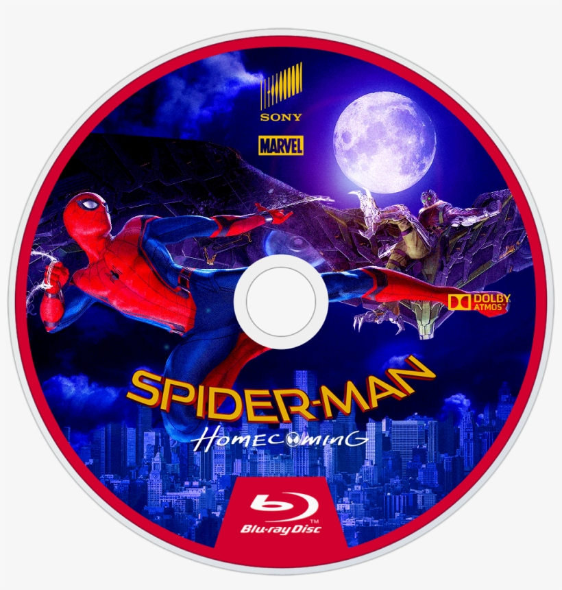 Homecoming Bluray Disc Image - Spiderman 2017 Blu Ray, transparent png #660806