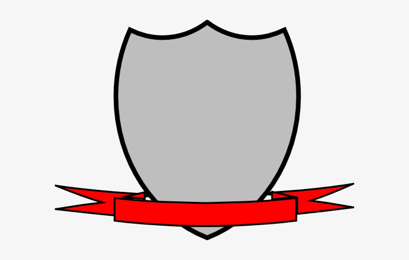 Png Transparent Library Shield Ribbon Clip Art At Clker - Shield With Ribbon Vector, transparent png #661036