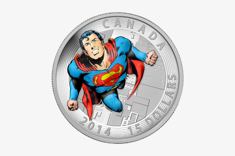 The First One Is Of Fine Silver And Depicts Superman - Canadian Mint Superman Coins, transparent png #661656