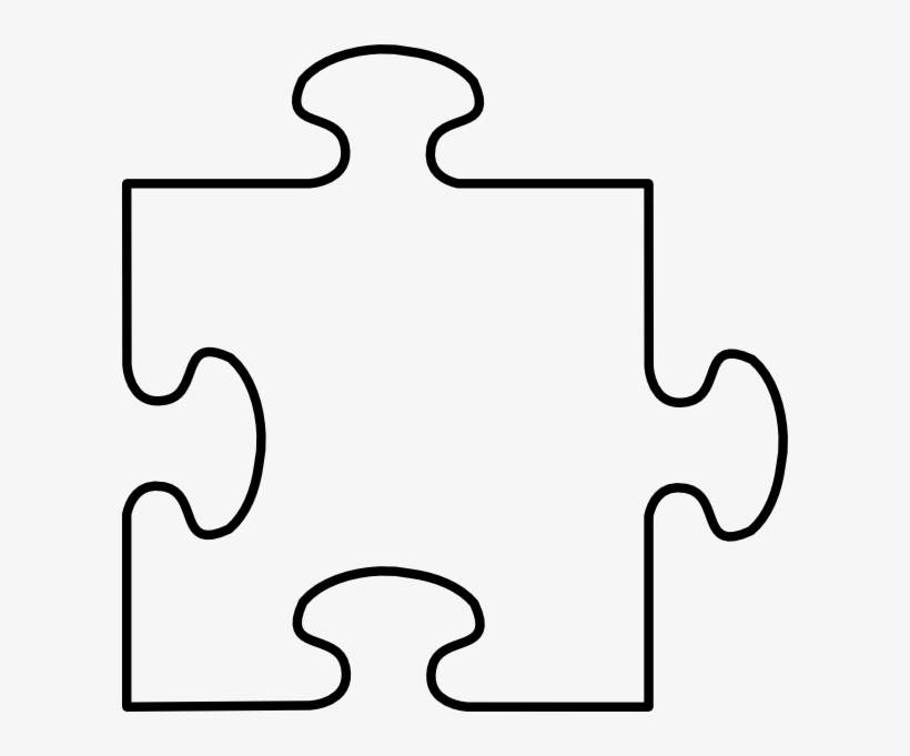 Puzzle Piece Frame Three Clip Art At Clker - Puzzle Piece ...