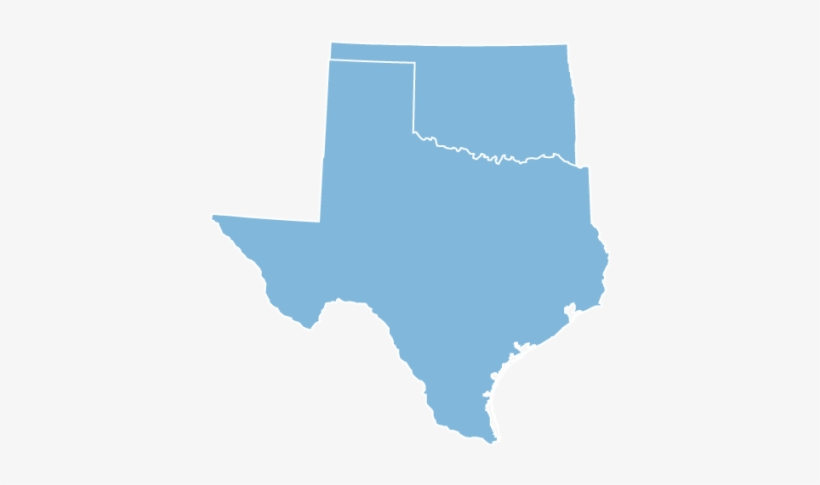 Oklahoma And Texas - Texas Map Black And White, transparent png #662304