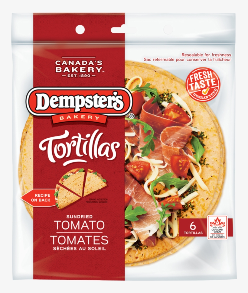 Dempster's® Sundried Tomato - Tomato Tortilla, transparent png #662606