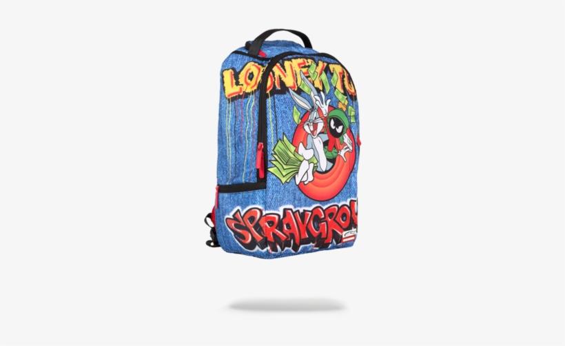 Looney Tunes Rainin Money - Looney Tunes Sprayground Backpacks, transparent png #663800