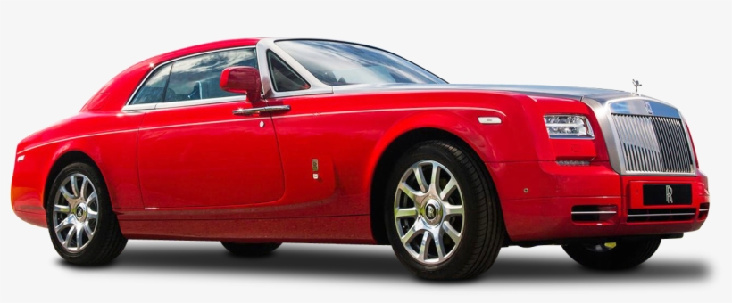 Red Rolls Royce Phantom Coupe Car Png Image - Phantom All Red Inside All White, transparent png #663910