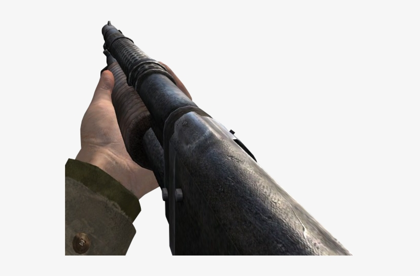 M1897 Trench Gun Cod2 - Call Of Duty 2 Shotgun, transparent png #665638