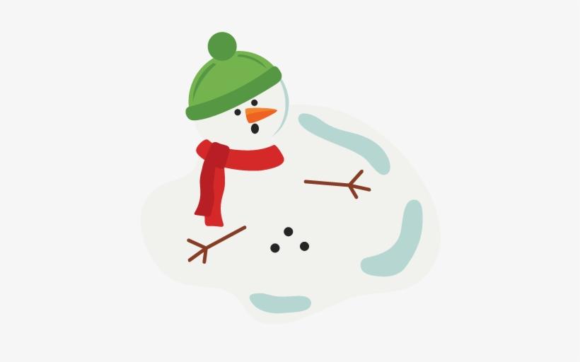 Melted Snowman Svg Scrapbook Cut File Cute Clipart - Svg File Melting Snowman, transparent png #666392