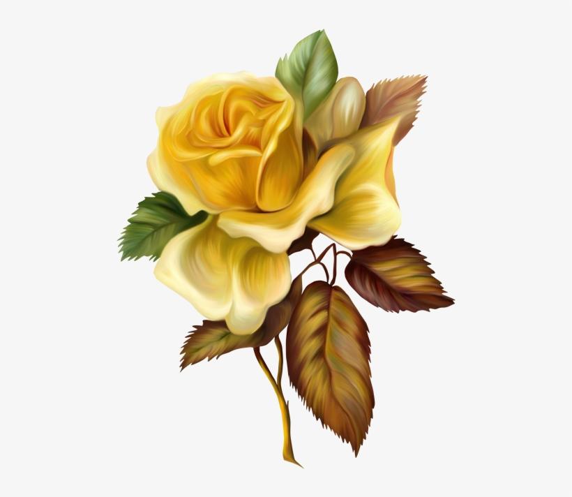 Painting Clipart Yellow Paint - Oil Paint Flower Png, transparent png #666450