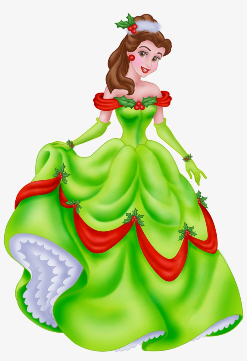 Top 96 Disney Christmas Clip Art - Disney Princess Belle Christmas, transparent png #666954
