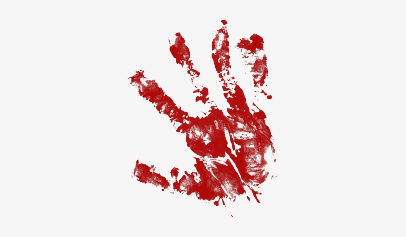 Bloody Handprint Png Download - Blood Splatter Hand Png