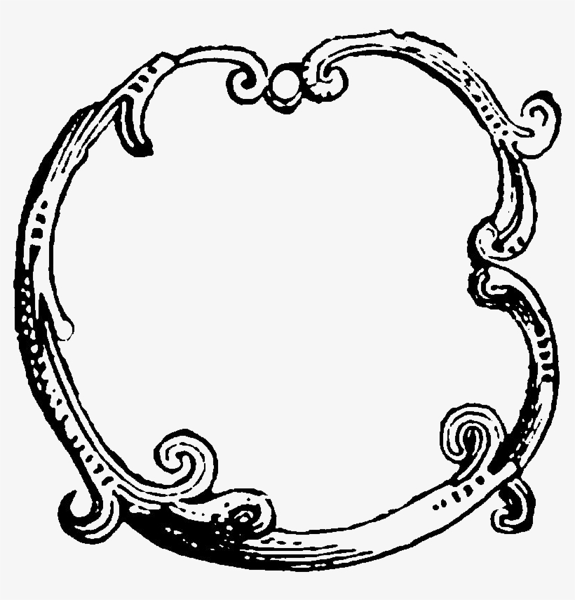 Digital Decorative Circle Frame Image Downloads - Circle Border Transparent Drawing, transparent png #667606
