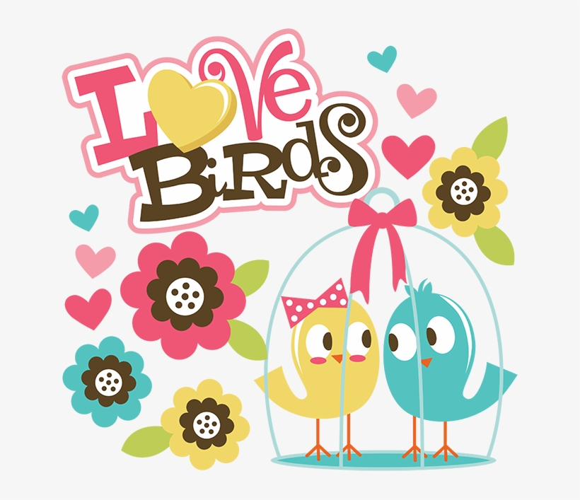 Love Birds Svg Scrapbook Collection Valentines Day - Happy Anniversary Two Love Birds, transparent png #667916