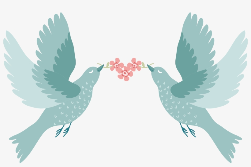 Bird Wedding Invitation Paper - Love Birds For Wedding, transparent png #667940