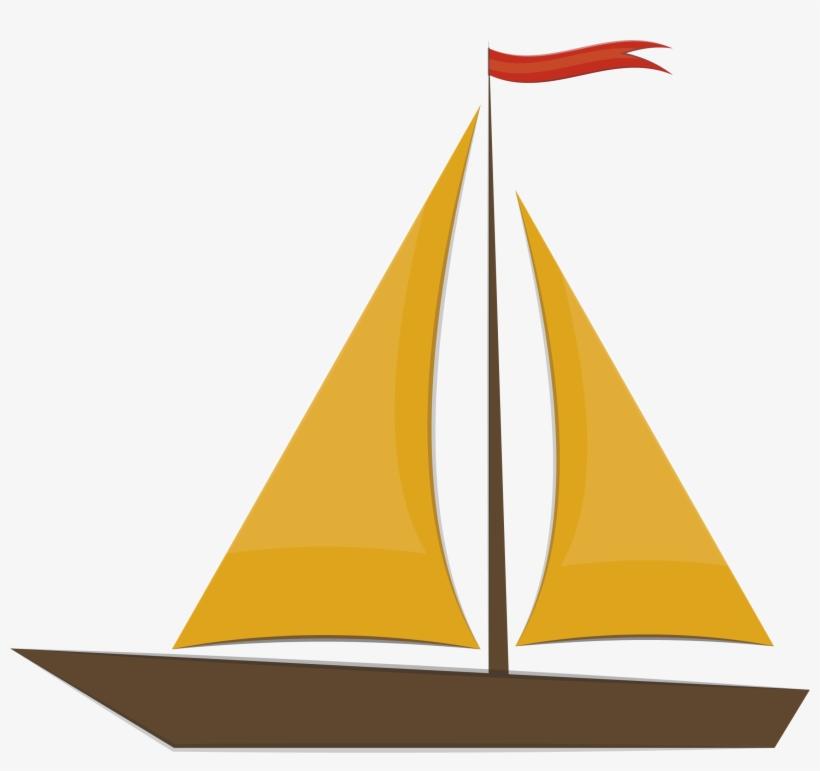 Sailing Ship Clipart Egg - Boat Illustrator Png, transparent png #668234