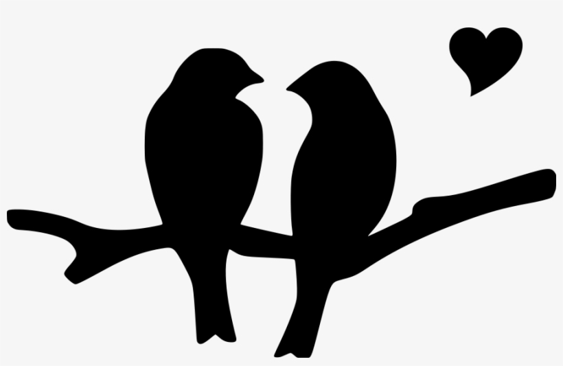Love Birds Silhouette Png Download - Love Birds Silhouette Clip Art, transparent png #668266