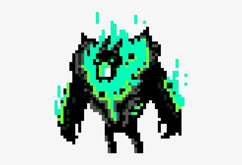 Blue Flame Boss - Fire Enemy Pixel Art, transparent png #668469