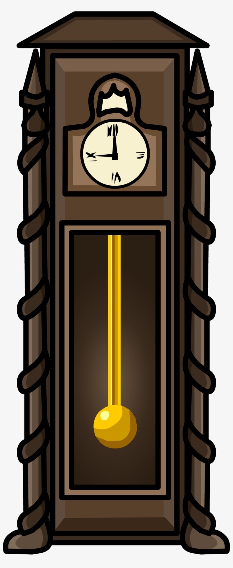 Antique Clock Furniture Icon - Club Penguin Clock, transparent png #669758