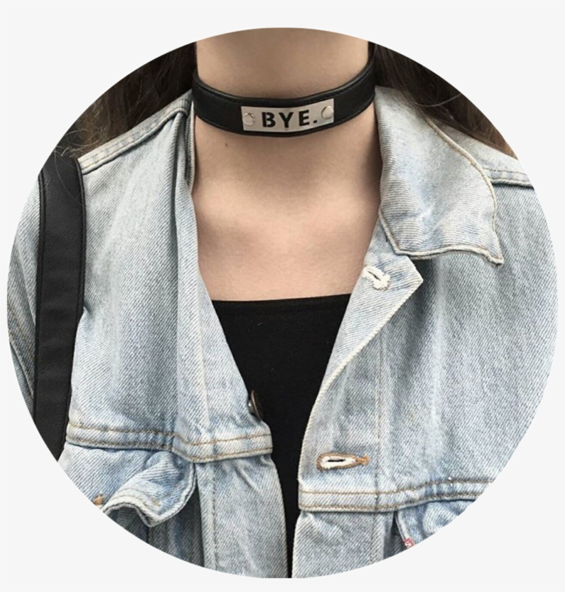 Grunge Tumblr Aesthetic Choker Girl Niche Icon Circle , Free