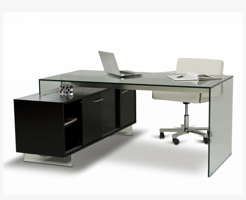 Office - Vig Furniture Modrest Alaska Black Oak Office Desk, transparent png #670845