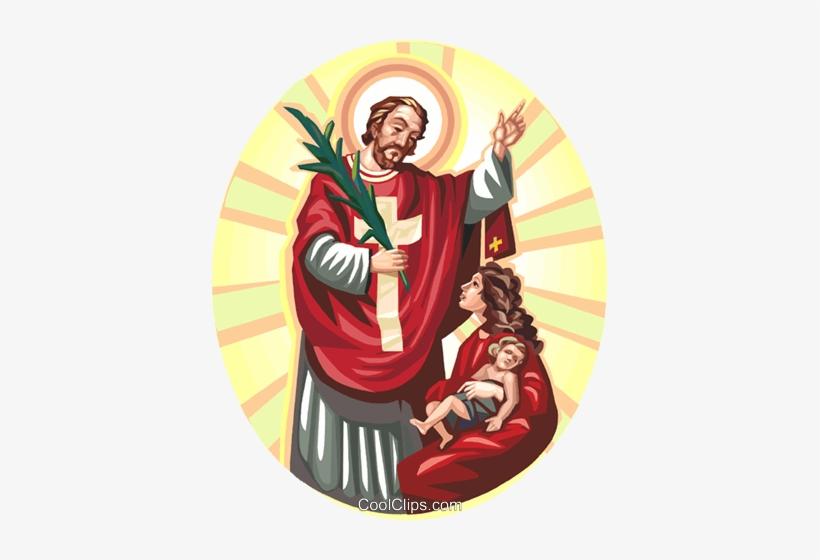 Jesus Christ Blessing Mother And Child Royalty Free - Illustration, transparent png #671183