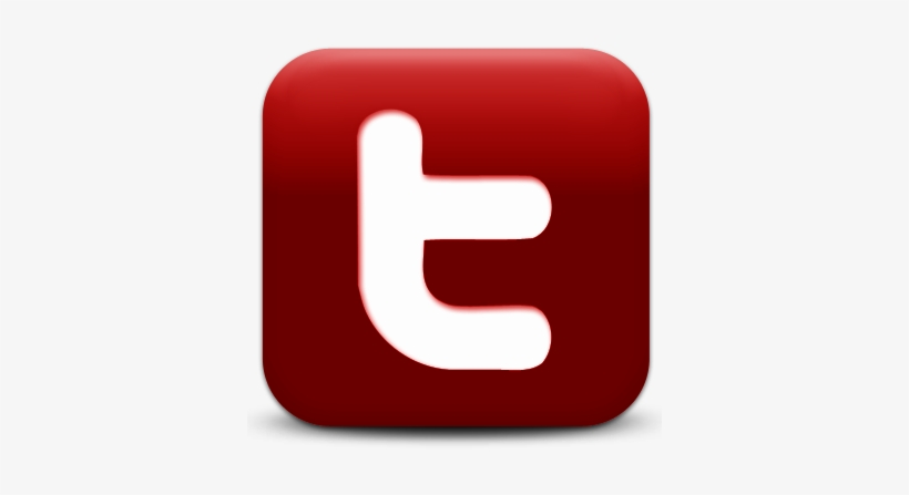 Red Twitter Logo Png - Twitter Logo Png Red, transparent png #671206