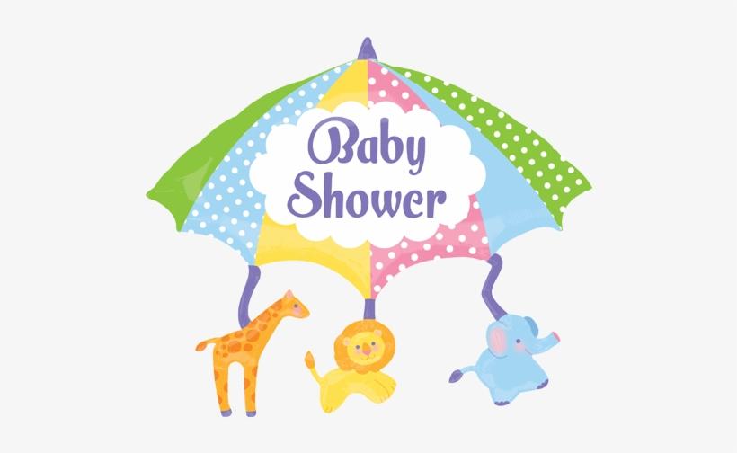 "Unisex Baby Shower - 32"" Baby Shower Mobile Jumbo Balloon - Mylar Balloons, transparent png #672415"