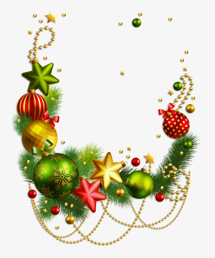 Christmas Decor Png - Merry Christmas Border Png, transparent png #673822