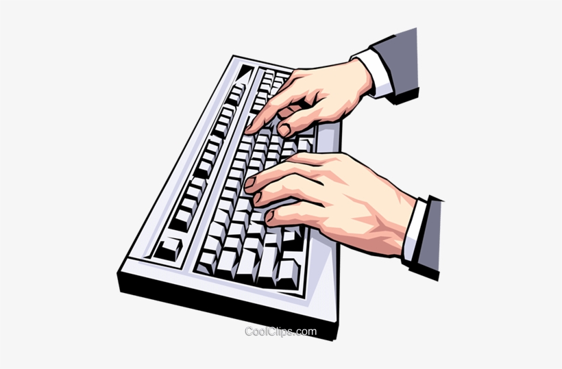 Picture Transparent Library Collection Of Hands On - Typing Clip Art, transparent png #674135