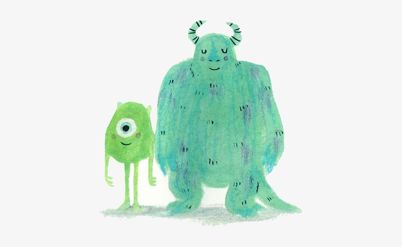 Drawing Disney Pixar Green Monsters Inc Blue Transparent - Monsters Inc Overlay, transparent png #674561