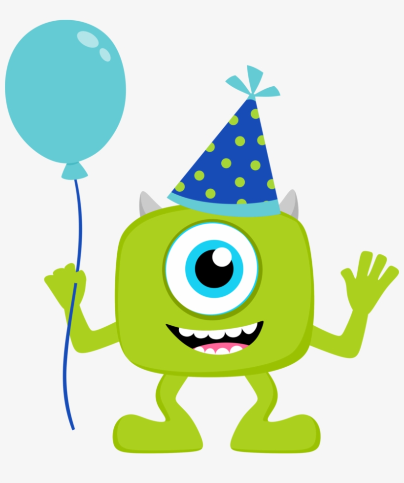 Clipart De Monster Party Beb - Monster Inc Happy Birthday, transparent png #674997