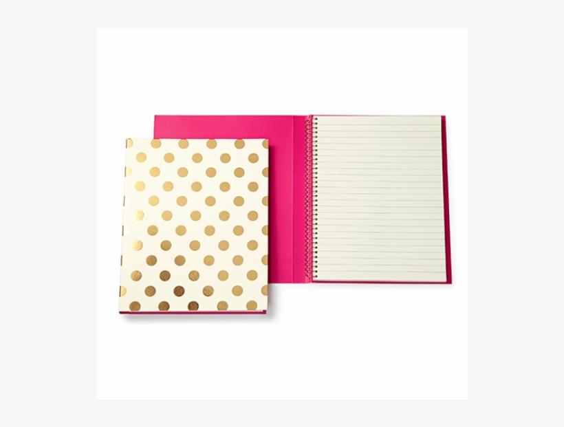 Kate Spade New York Gold Dot Notebook - Kate Spade New York Spiral Notebook Gold, transparent png #676845