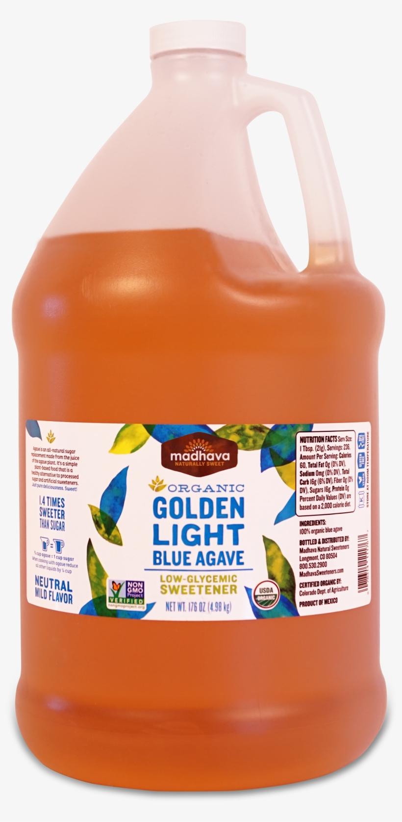 Organic Golden Light Agave 176 Oz - Madhava - Organic Golden Light Blue Agave - 46 Oz., transparent png #678629